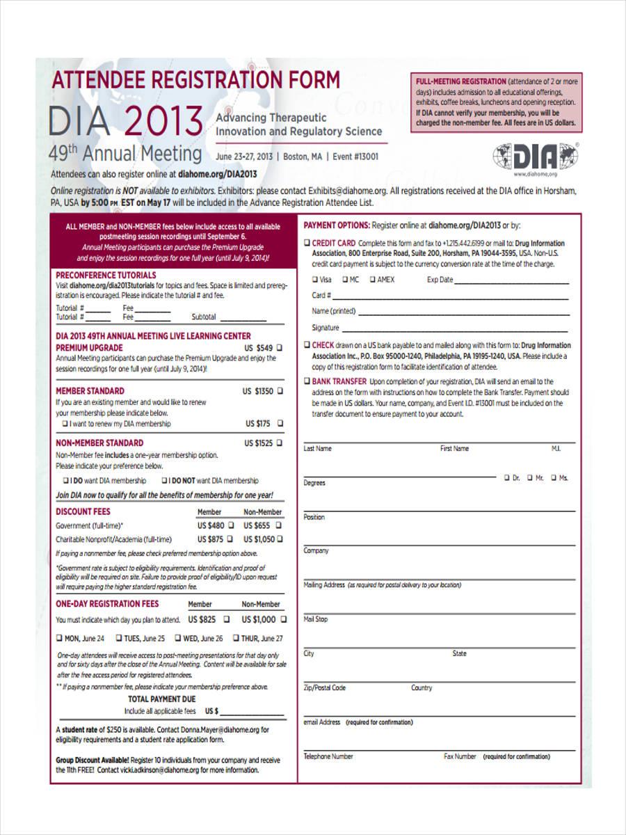 attendee registration form1
