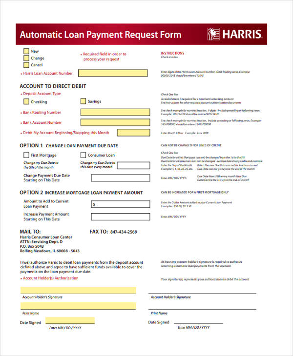 automatic loan payment