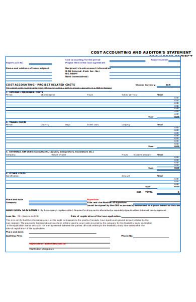 basic accounting form