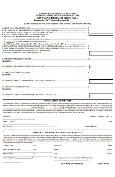 basic payment requisition form