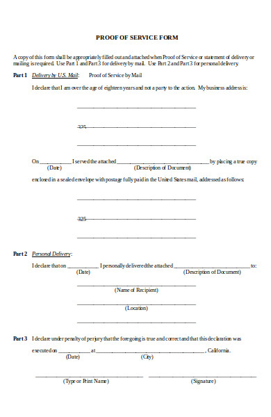 basic proof of service form