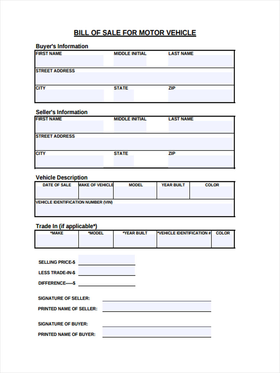 free 28  sample bill of sale forms in pdf