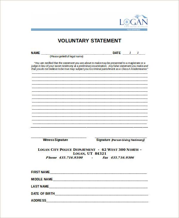 blank voluntary statement1