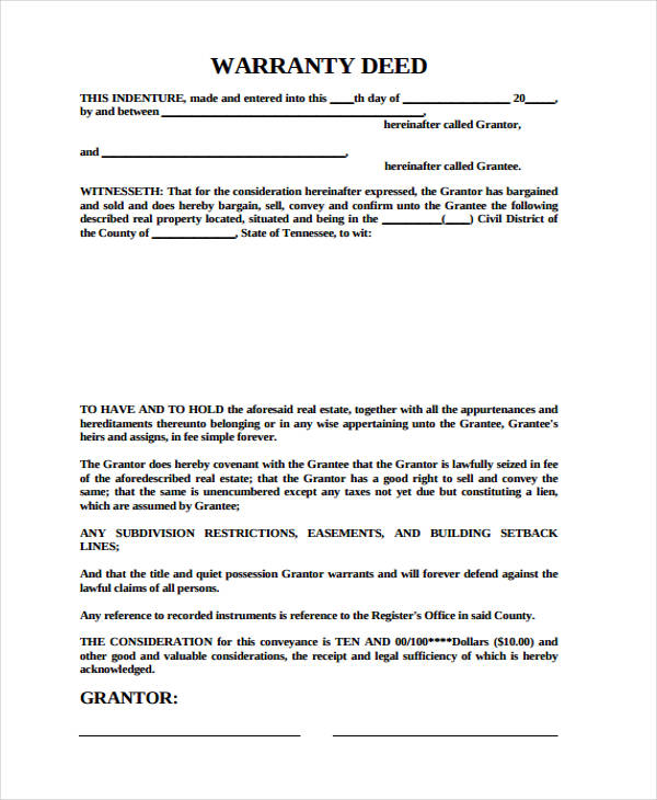 Deed Forms In Pdf