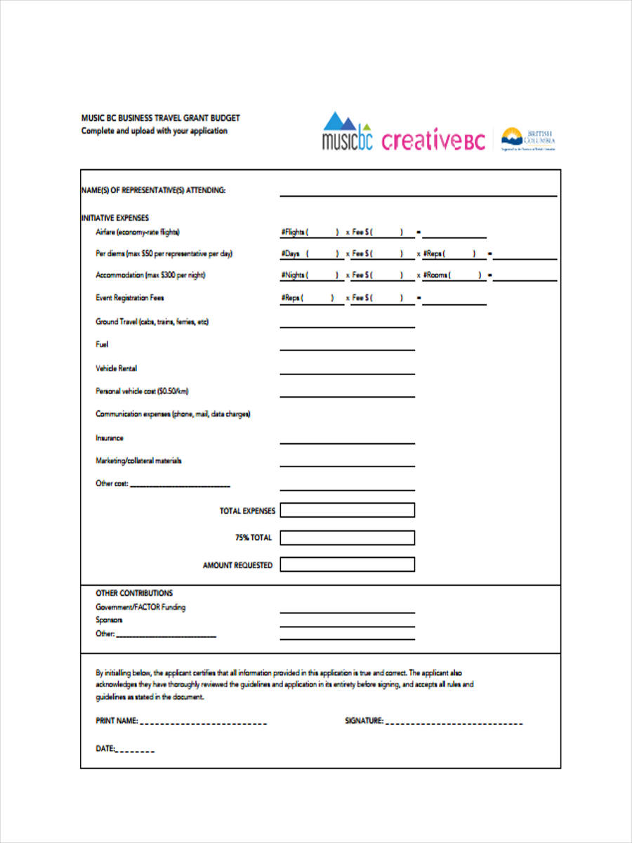 7+ Travel Budget Form Samples - Free Sample, Example Format Download