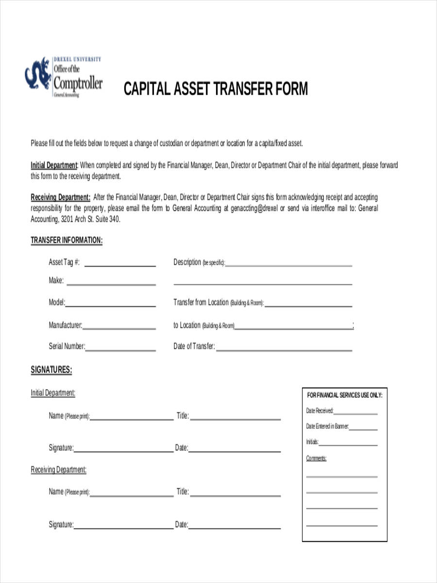 42 sample transfer forms