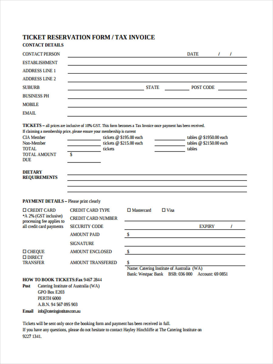 catering tax invoice