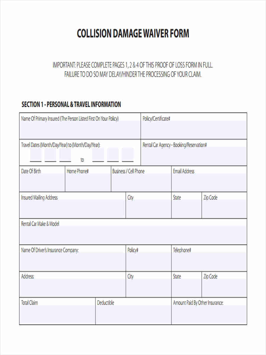 19 Waiver Word Document Sample Medical Advice Forms