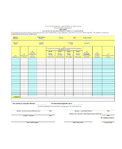 contract addendum form sample