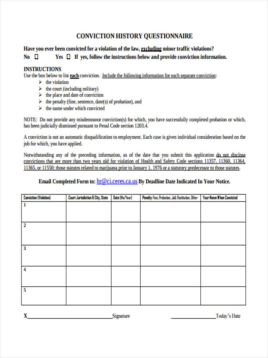 conviction questionnaire1