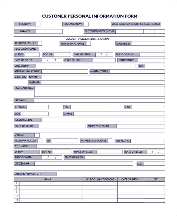 Customer-Personal1 New Job Form Hp on new job template, new job flyer, new job memo, new job letter sample,