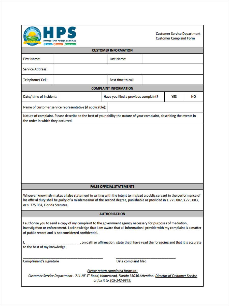 customer service complaint1