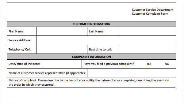 9+ Customer Service Form Sample - Free Sample, Example