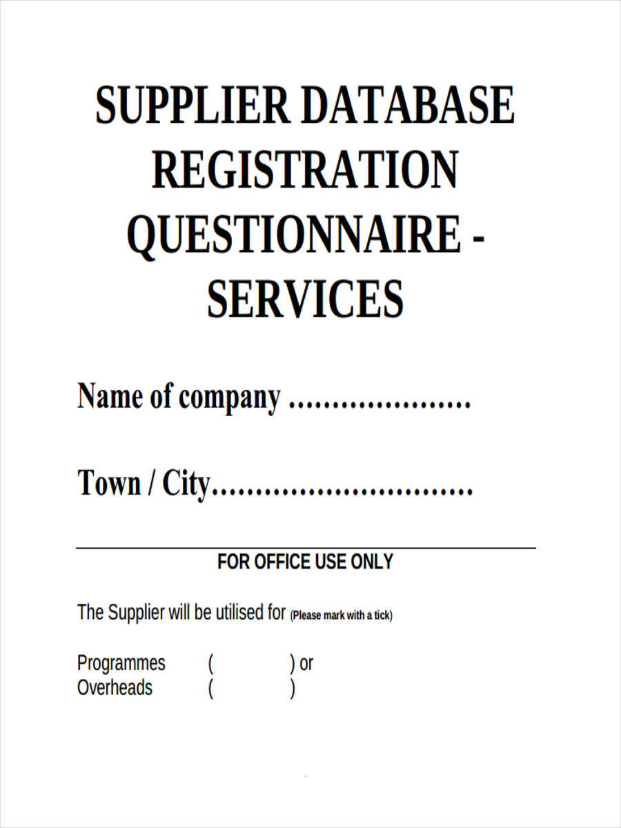 database registration questionnaire1