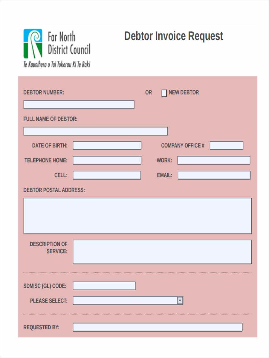 debtor invoice request