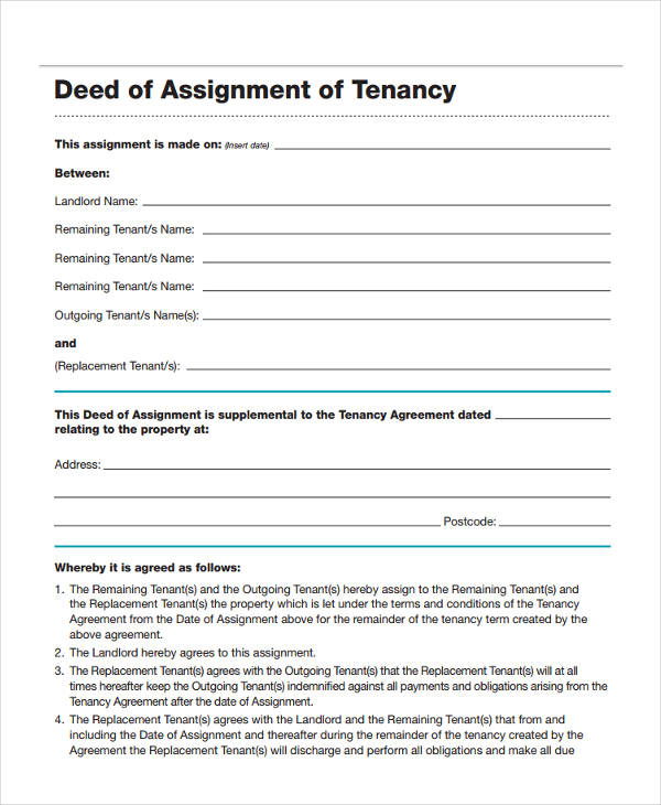 assignment of deed of trust form The general deed-in-trust form for land trust the deed in trust general form states all the rights and duties, privileges and obligations of the immediate and the.