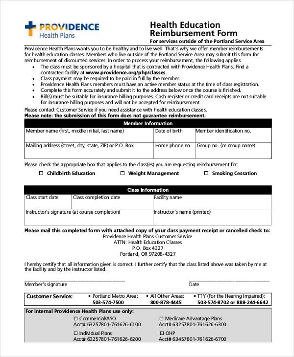 education reimbursement form