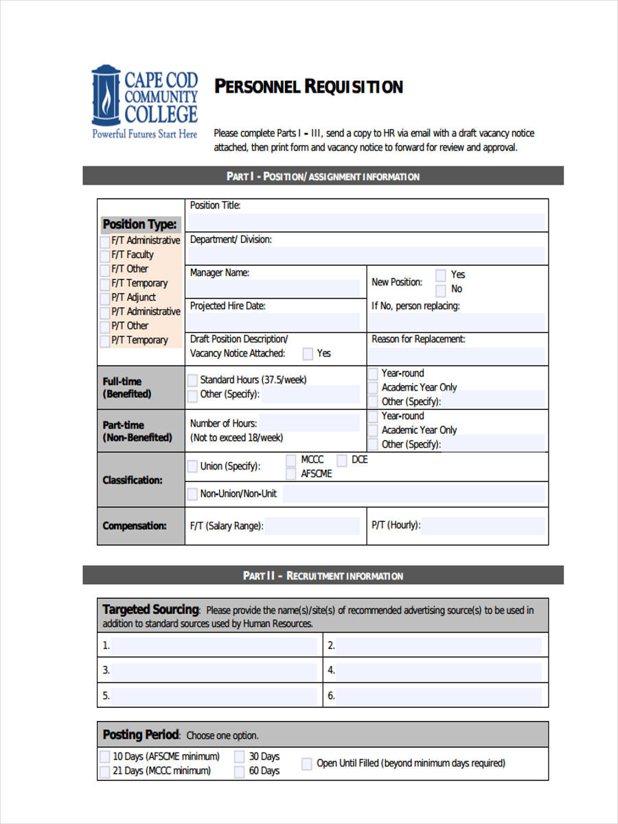 5 personnel requisition forms free sample example format download electronic personnel in pdf thecheapjerseys Choice Image