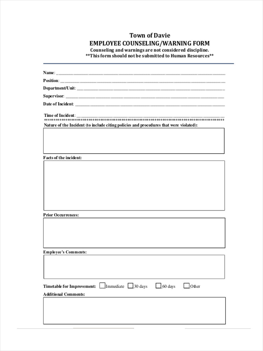 counseling memo template - employee counseling form template