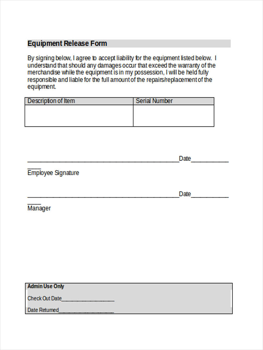 free 5  equipment liability forms in ms word