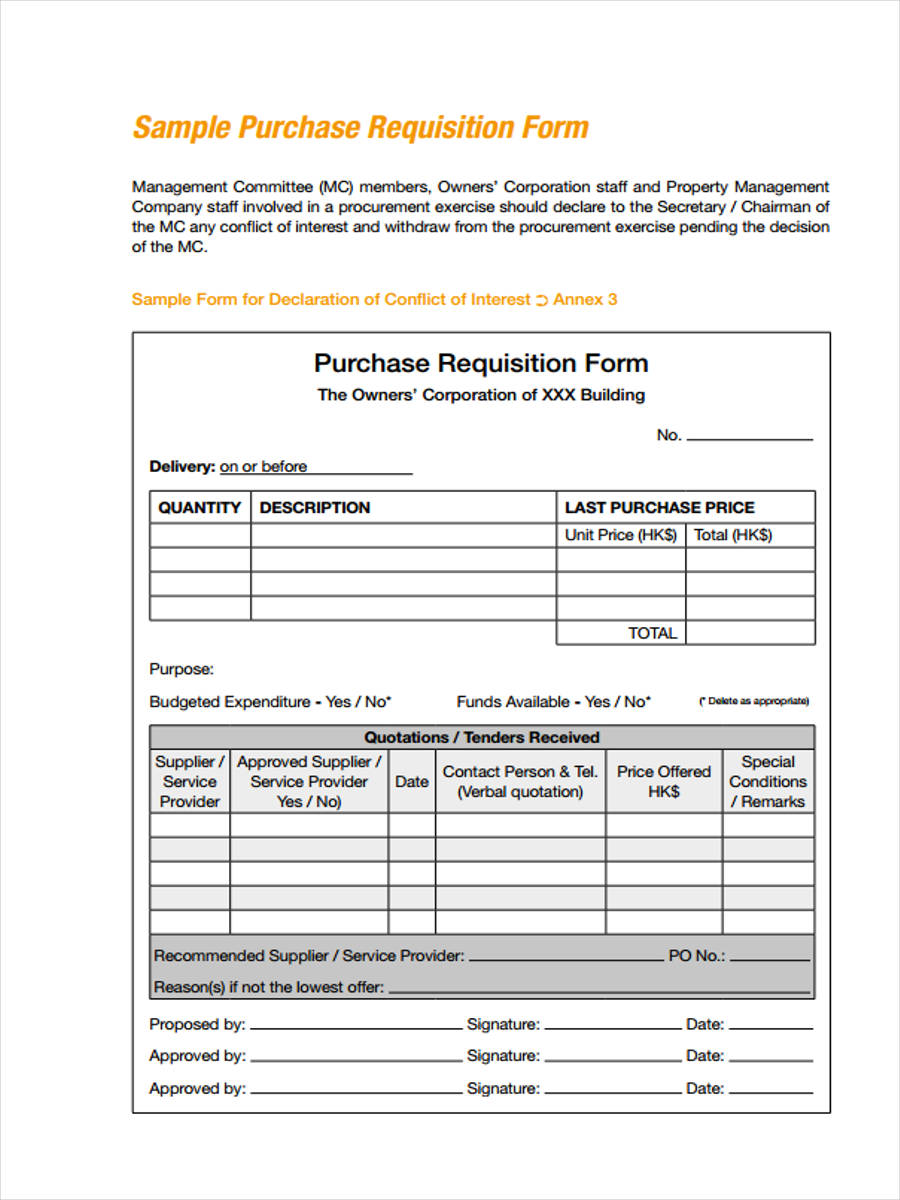 Delightful Sample Purchase Requisition Form. Employee Purchase