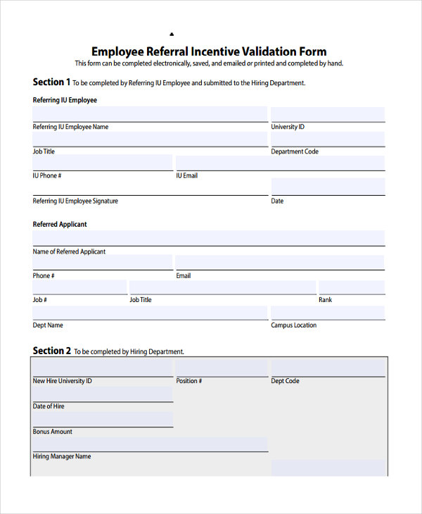 employee referral confirmation
