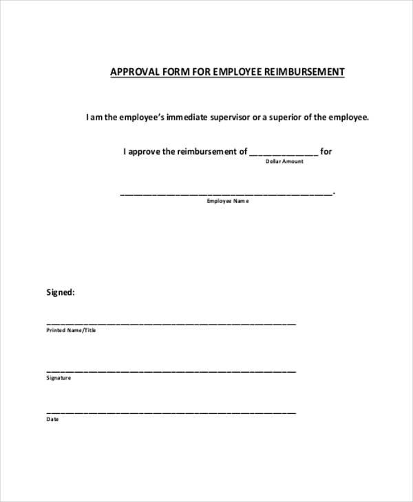 employee reimbursement approval