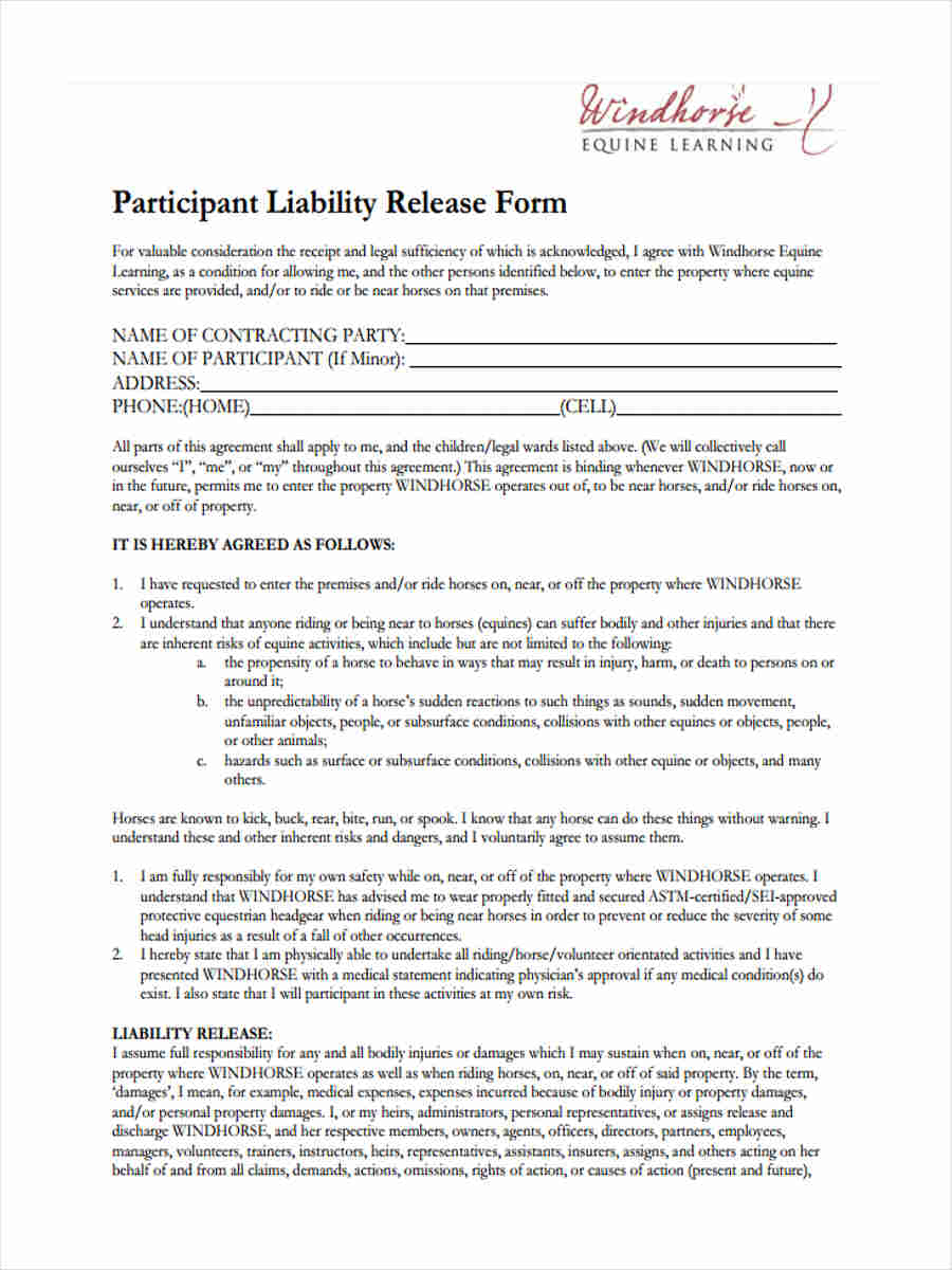 equine liability release1
