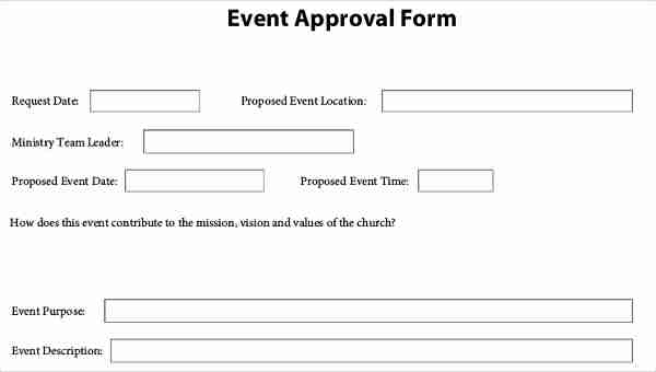 Event Approval Forms - 9+ Free Documents in PDF