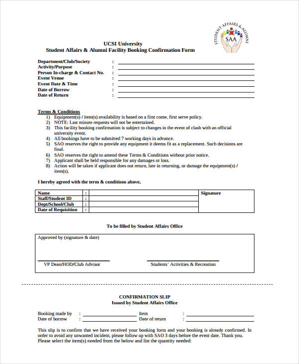 facility booking confirmation1