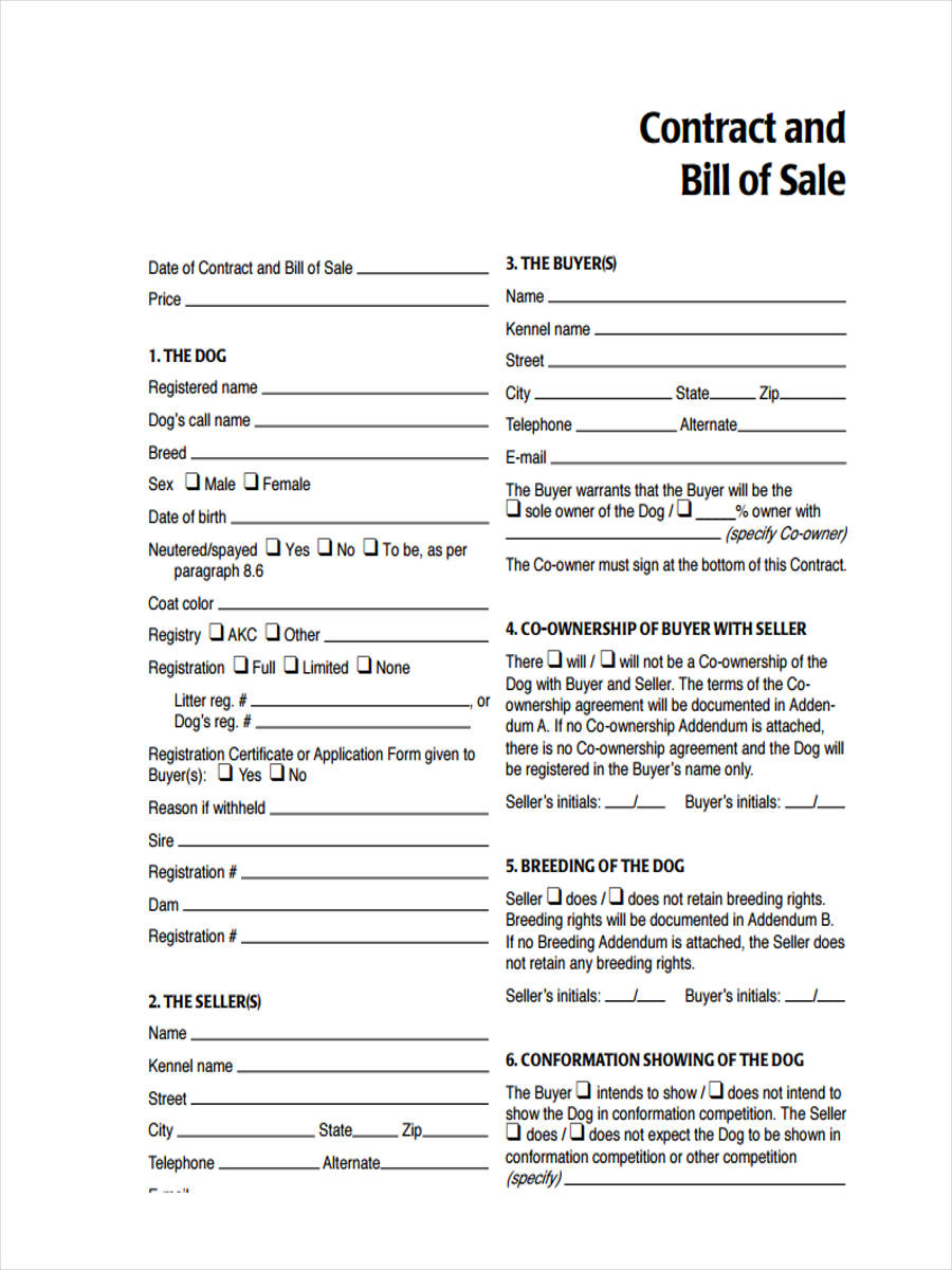 free bill of sale form1