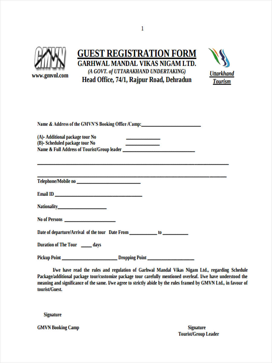 21 hotel registration form templates free hotel guest thecheapjerseys Gallery