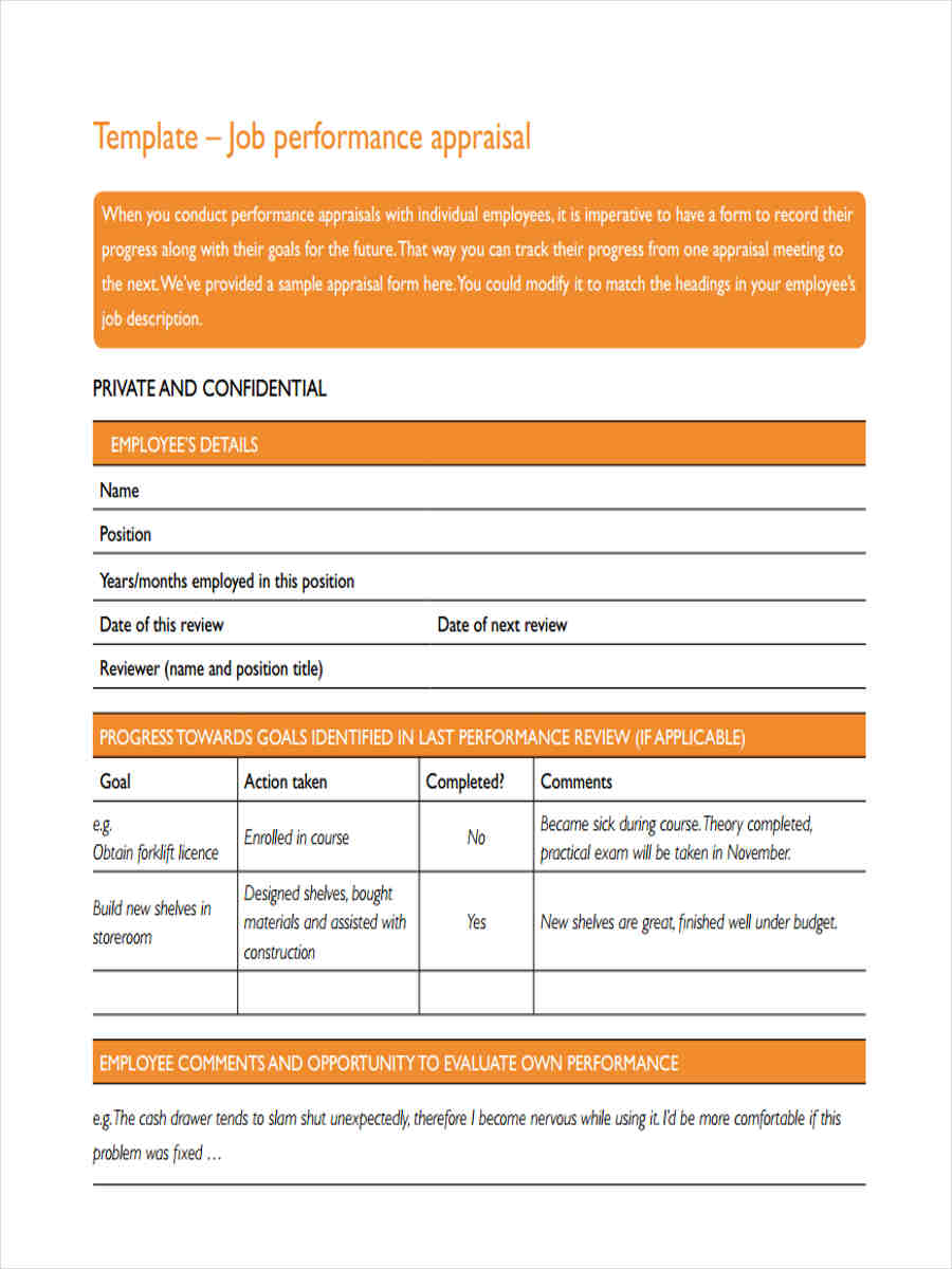 free job appraisal