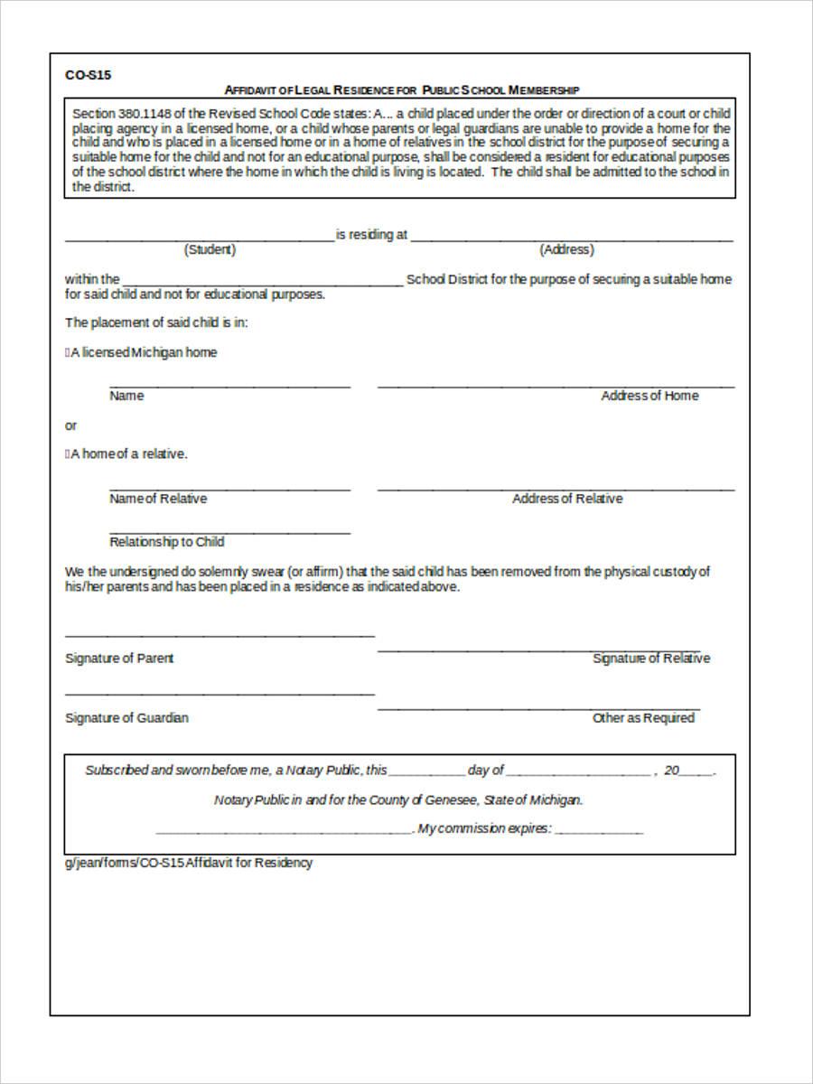 free legal affidavit2