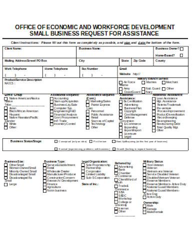 general business development form