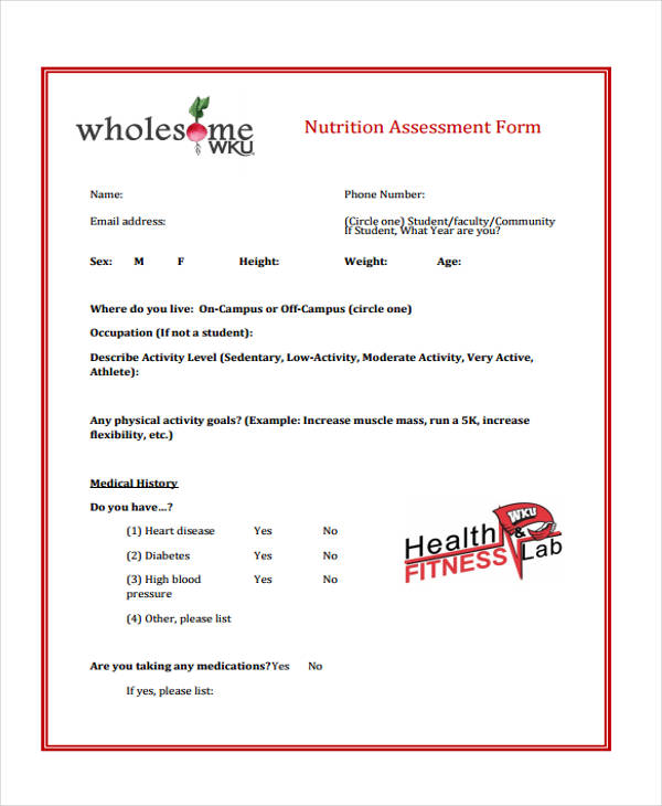 general nutrition assessment