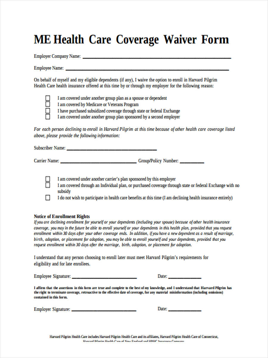 8 Generic Waiver Forms - Free Sample, Example Format Download