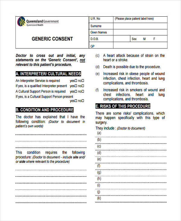 22+ Free Medical Consent Forms