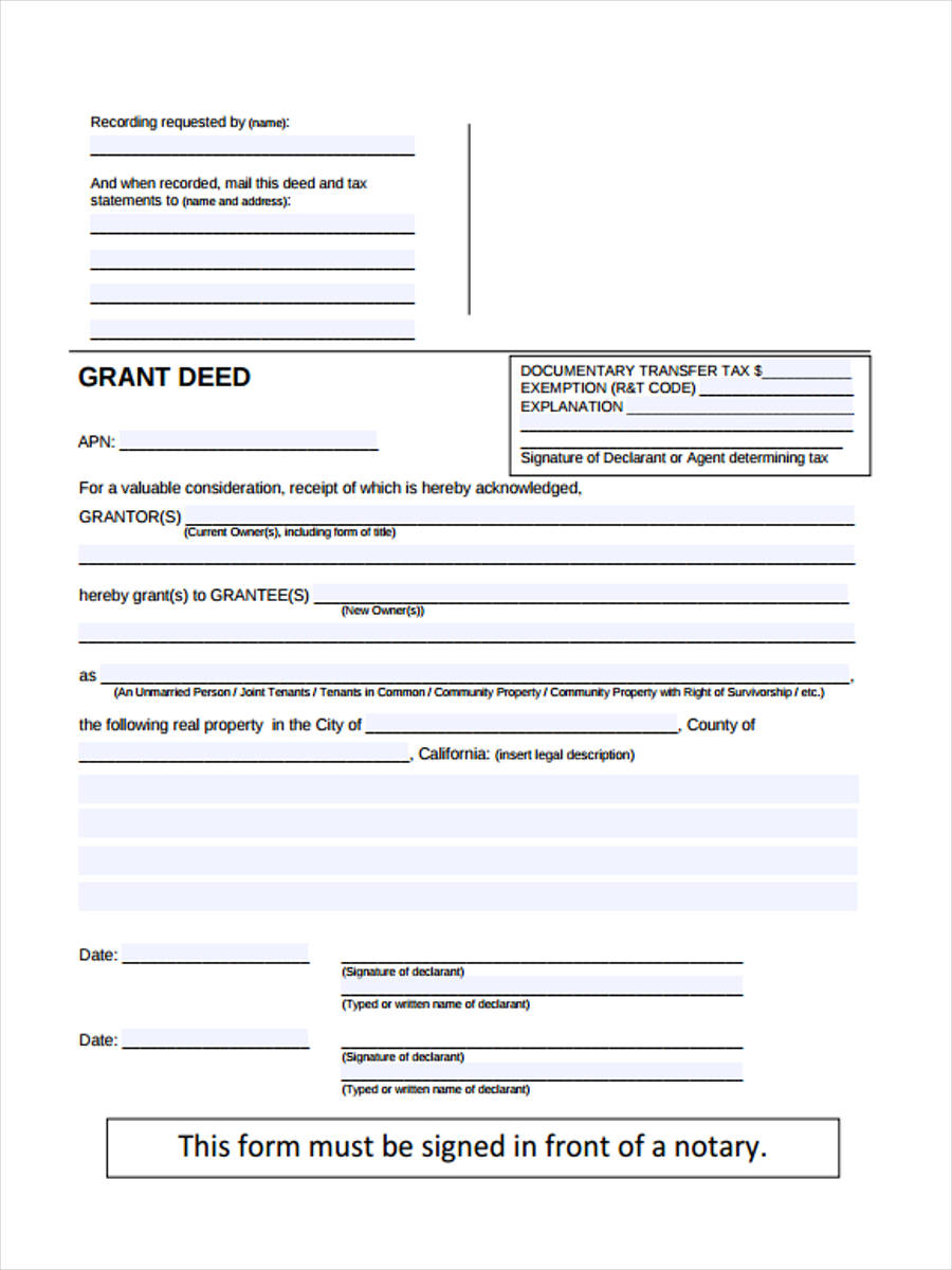 grant deed transfer