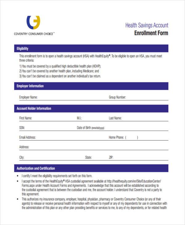 health account enrollment