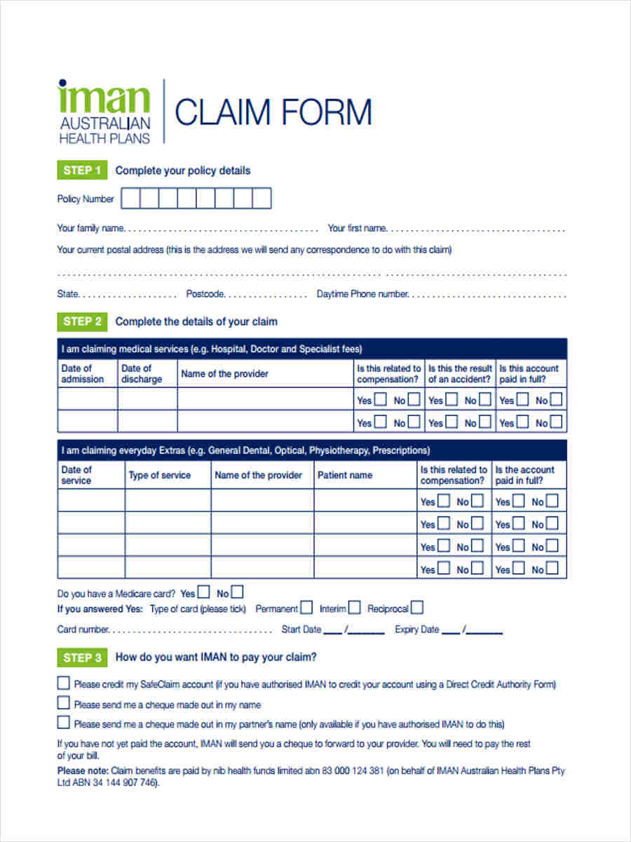 Health-Accounting-Claim1 Sample Forms Examples on it cover letter, independent dependent, marketing resume,