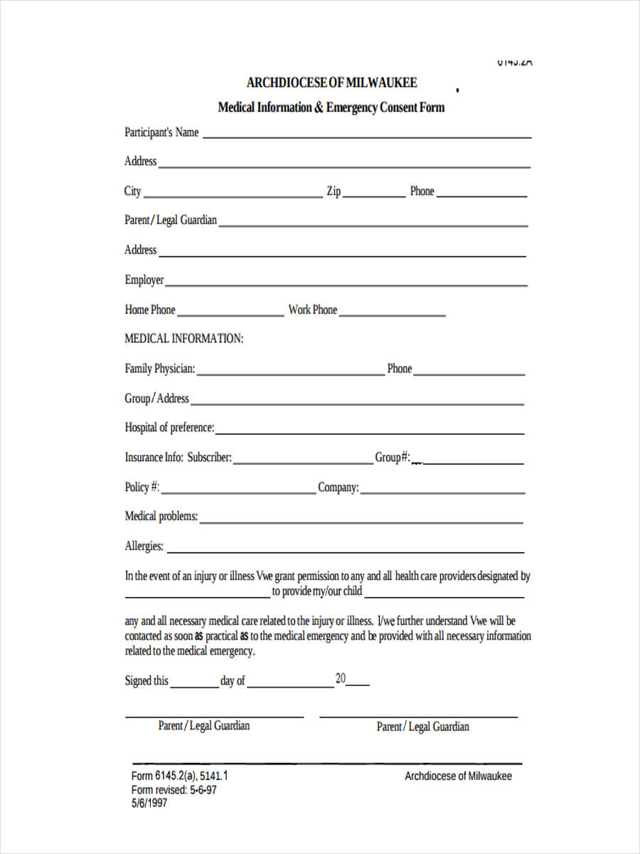 health waiver consent