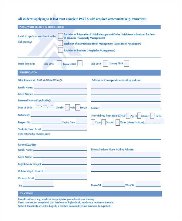 hotel management registration