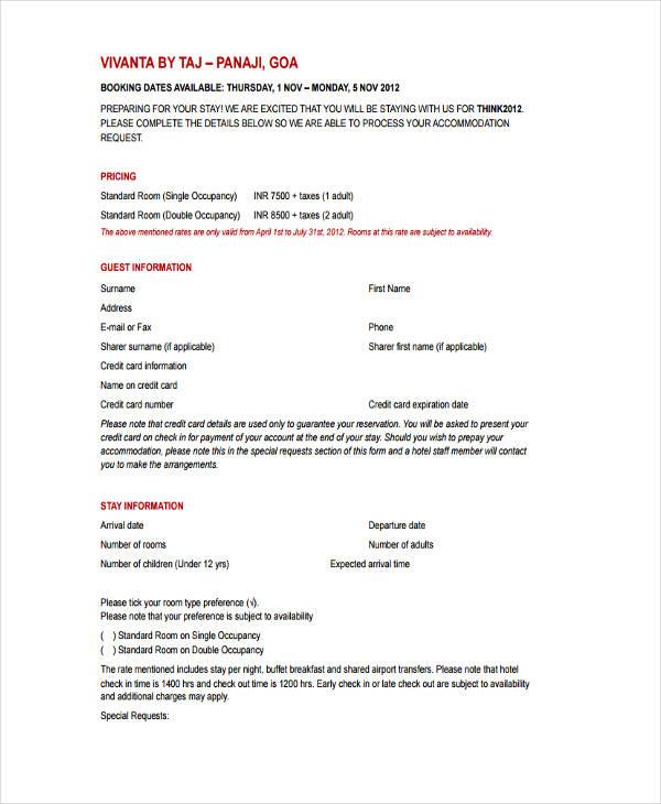 hotel registration information1