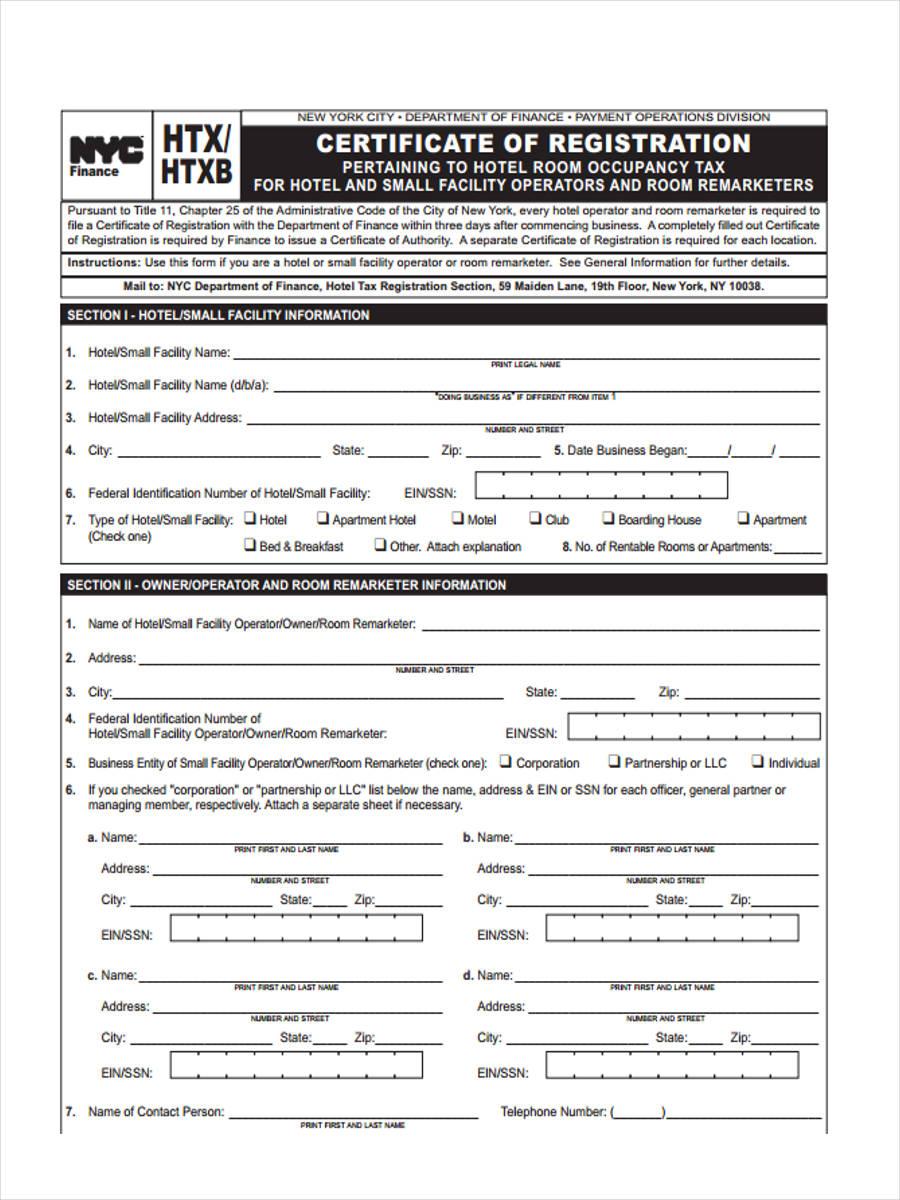 hotel tax certificate of registration1