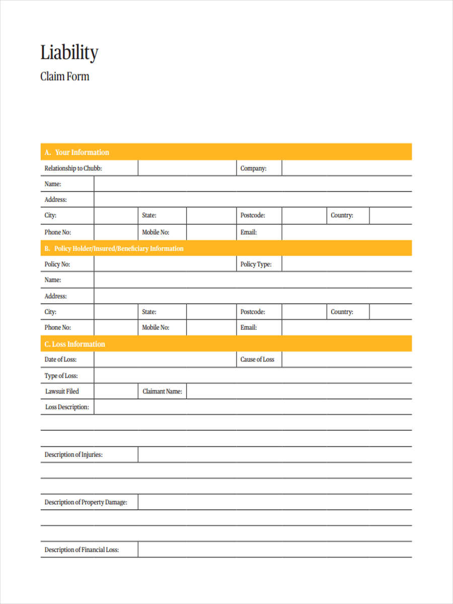 insurance claim form