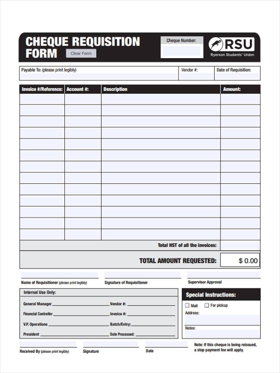 internal cheque
