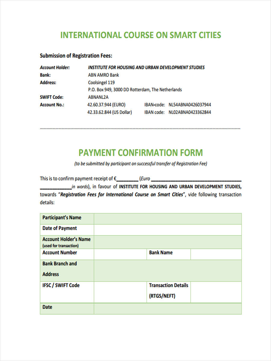 international course payment