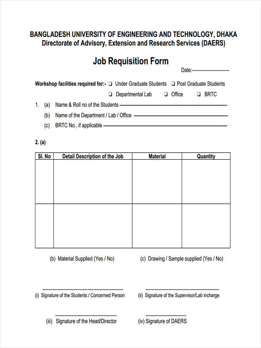 job work requisition