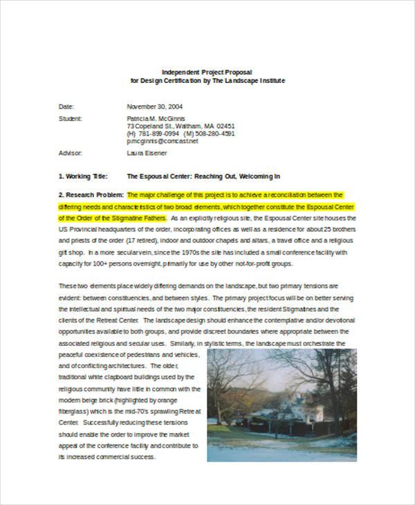 9 design proposals free documents in word pdf for Garden design proposal